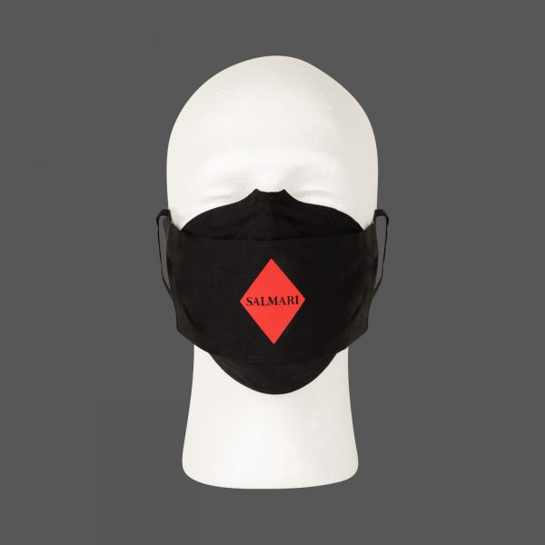 Salmari Face Mask on head